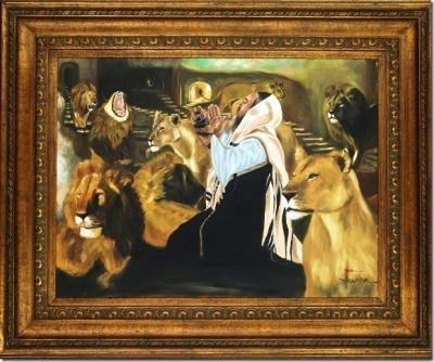 Daniel and Lions Framed