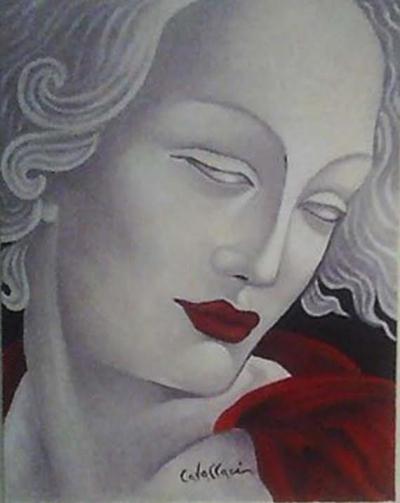 Detalhe do Rosto - Opera G .L. Bernini (Releitura)
