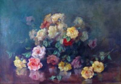 Cachepot com rosas