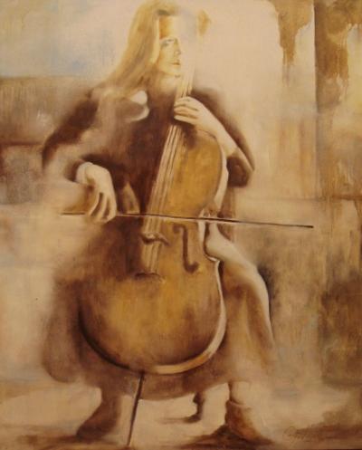 Mulher tocando violoncelo