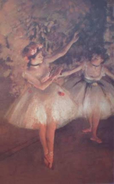 Duas Bailarinas no Palco