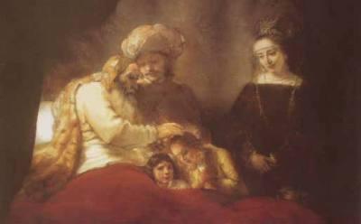 Jacob Abençoando os Filhos de José