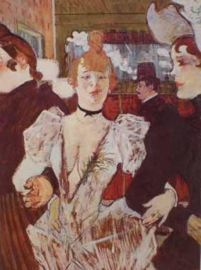 La Goulue Entrando no Moulin Rouge