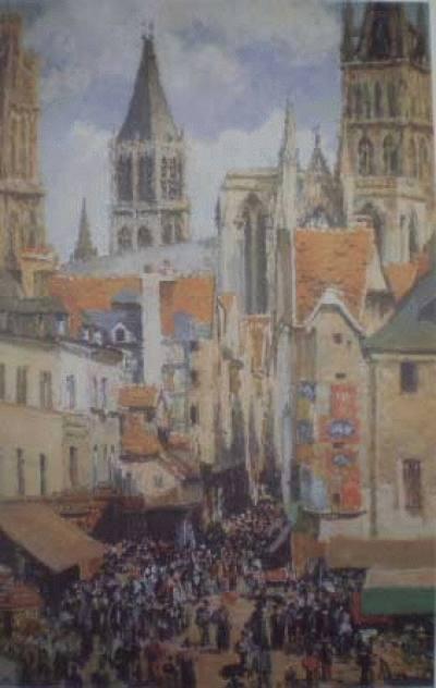 O Velho Mercado de Rouen e a Rua de l'Epicerie