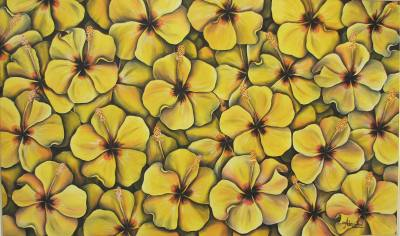 Hibíscos amarelos