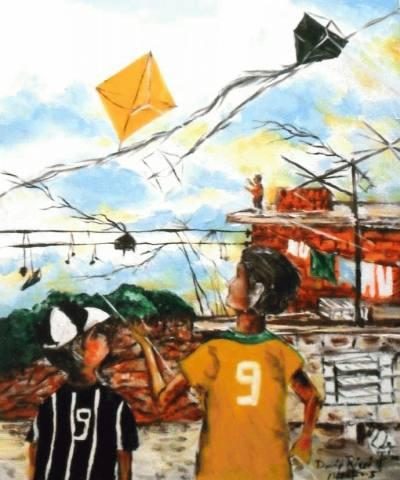 Camisa do Corinthians e CBF-Serra da cantareira ao fundo